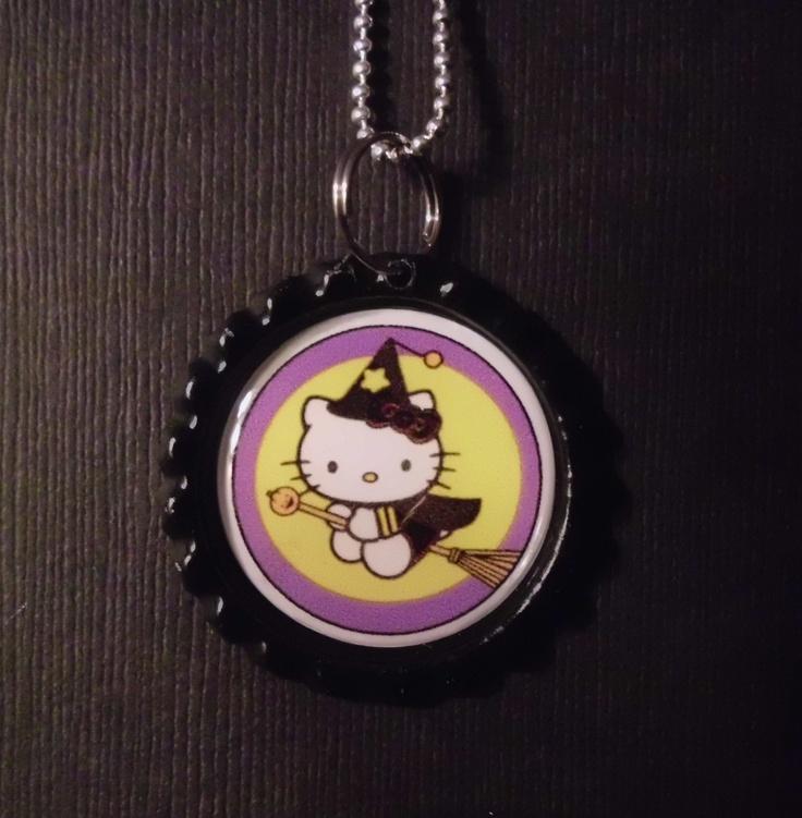 Halloween Bottle Cap Charm Necklace 5