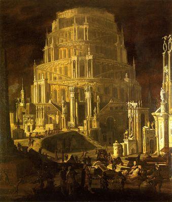 « La tour de Babel » par Monsù Desiderio
