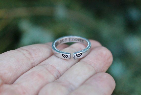 Perfect Gift for Inspiration You are Loved Inspirational and Adjustable Ring