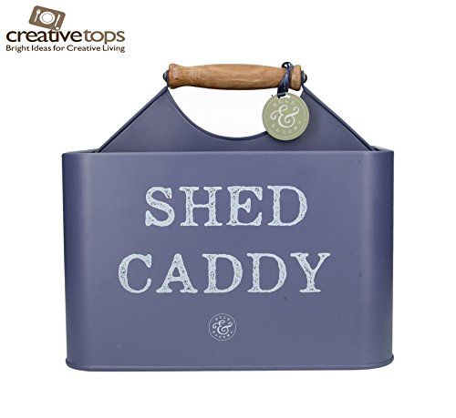 Creative Tops Bulb U0026 Bloom Shed Garden Caddy Tool Box In Vintage Blue  #gardentoolorganizer