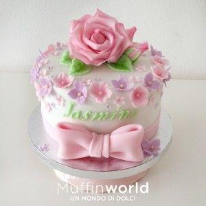 Torte di battesimo e baby shower - Christening cake-roses