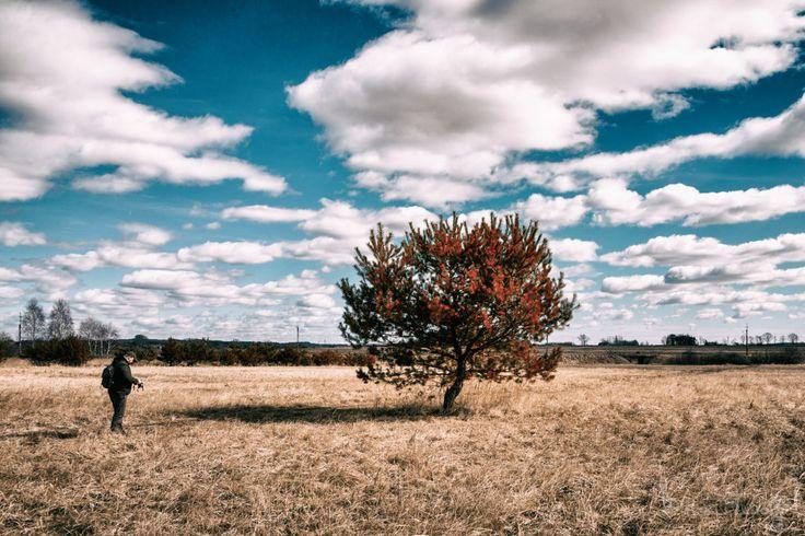 Wiejski krajobraz i Indian Summer - przykład ciekawego filtru w Color Efex Pro.
