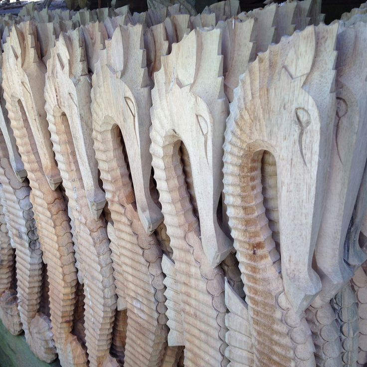 These Seahorses are hand carved by one of our producers in Bali. Each carver has their own speciality!
