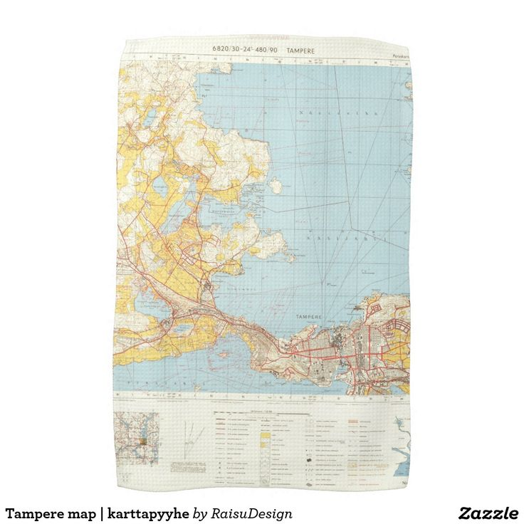 Tampere map | karttapyyhe hand towels