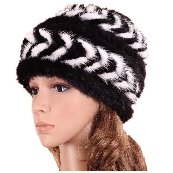 H320~Women's knitted  outdoor cap of natural mink fur.winter thickening beanie,Wholesale,Gray,Brown,White fur russian winter hat