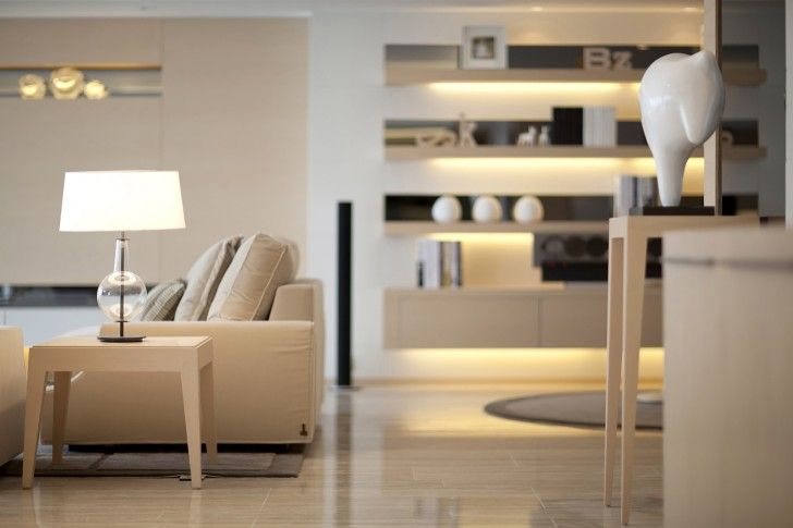 Interior Design, Brown Yellowish Laminate Floor Table Sofa Table Lamp Cushion Carpet And Modern Living Area ~ Inspiring Elegant Interior and Furniture Architecture for Your House