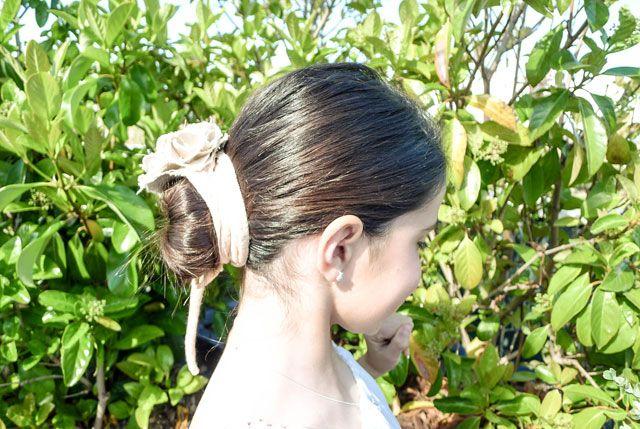 Peinado de Primera Comunión con moño #primeracomunion #peinadoscomunion #comuniones