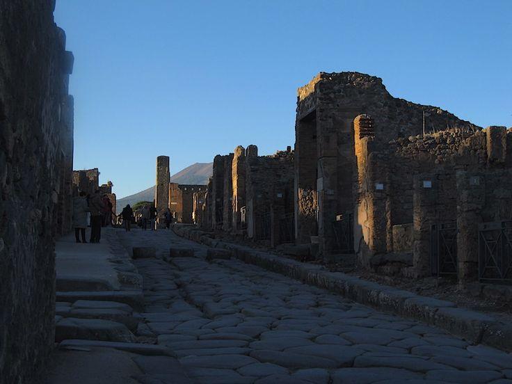 Pompeia Itália e o Vesúvio