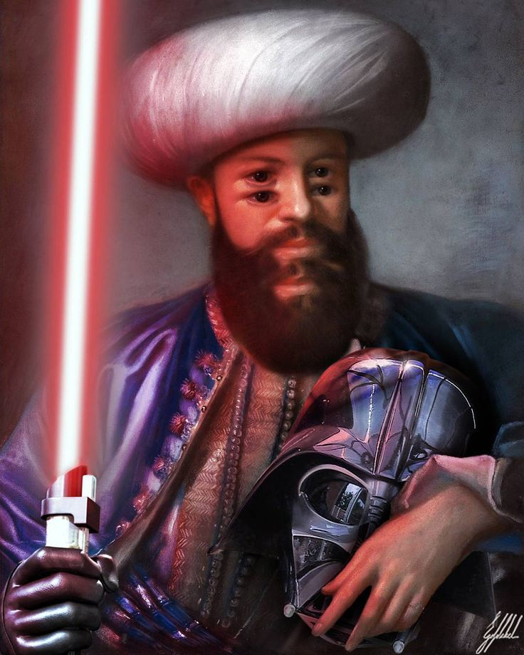 #famous #painting #liotard #ottomans #starwars #lightsaber #darthvader #art #artwork #photomanipulation   What if Ottomans were from the Star Wars Universe?  Portrait of a man in Ottoman costume painting by Jean-Étienne Liotard.