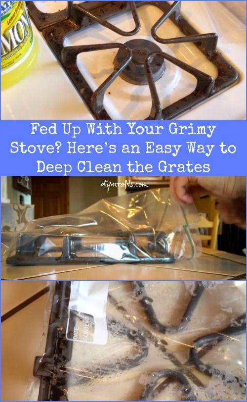 Harto de su estufa Grimy?  He aquí una manera fácil de Deep Clean las rejillas ..