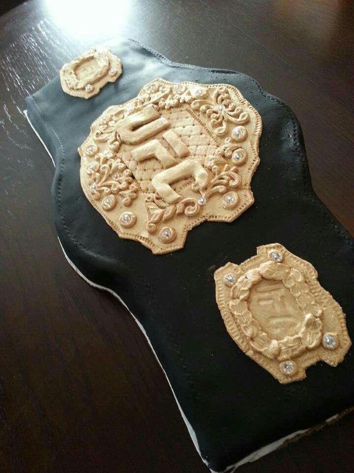 UFC Belt cake
