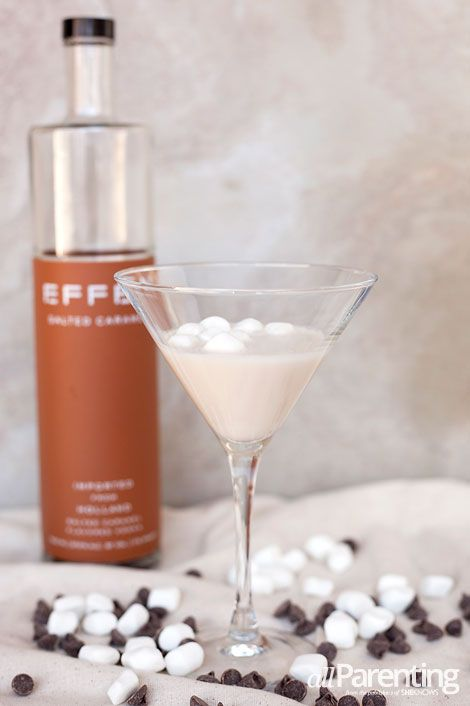 Salted caramel rocky road martini with salted caramel vodka