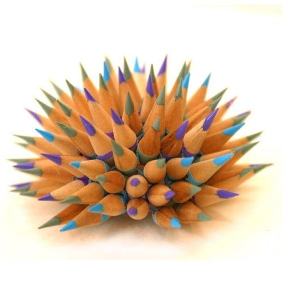 Custom Pencil urchin by jenmaestre on Etsy, $200.00Pencil Urchins, Crafts Ideas, Custom Pencil, Pencil Sculpture, Colors Pencil, Artists Friends, Bonitos Colors, Colours Pencil, Pencil Art