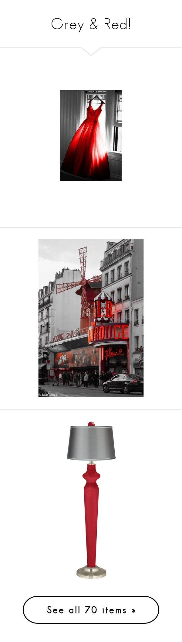 """""""Grey & Red!"""" by jewelsinthecrown ❤ liked on Polyvore featuring backgrounds, decor, home, lighting, floor lamps, red, red lights, colored lights, red floor lamp and colored lamps"""