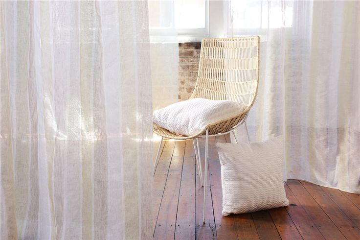 Delphina and Joe by Charles Parsons Interiors are charismatic wide width sheers with a soft translucent nature.  The lush handle of these fabrics evoke sophisticated simplicity.