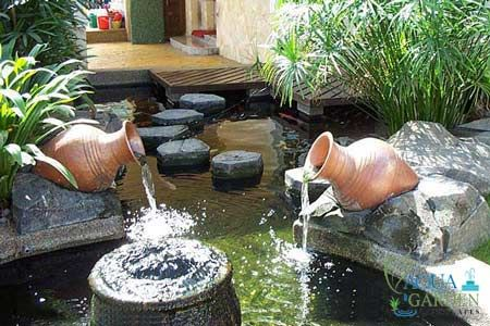 Aqua garden krajobrazy fontanny fontanna szk o kryty for Koi pond design malaysia