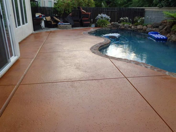 Amazing Stained Concrete Patio
