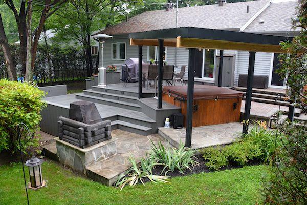 patio plus terrasses paliers paysagement pinterest decking patios and backyard. Black Bedroom Furniture Sets. Home Design Ideas