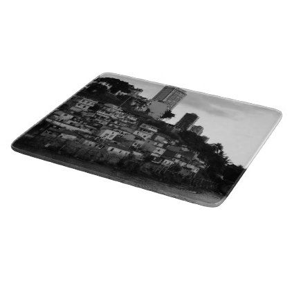 Black and white photo of a favela Rio Brazil Cutting Board - photos gifts image diy customize gift idea