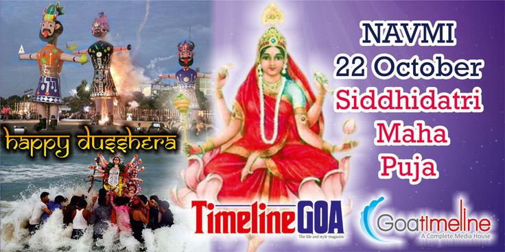 #Goatimeline #Team wishes all the devotees a very Happy Dussehra !! Siddhidatri Maha Puja!!