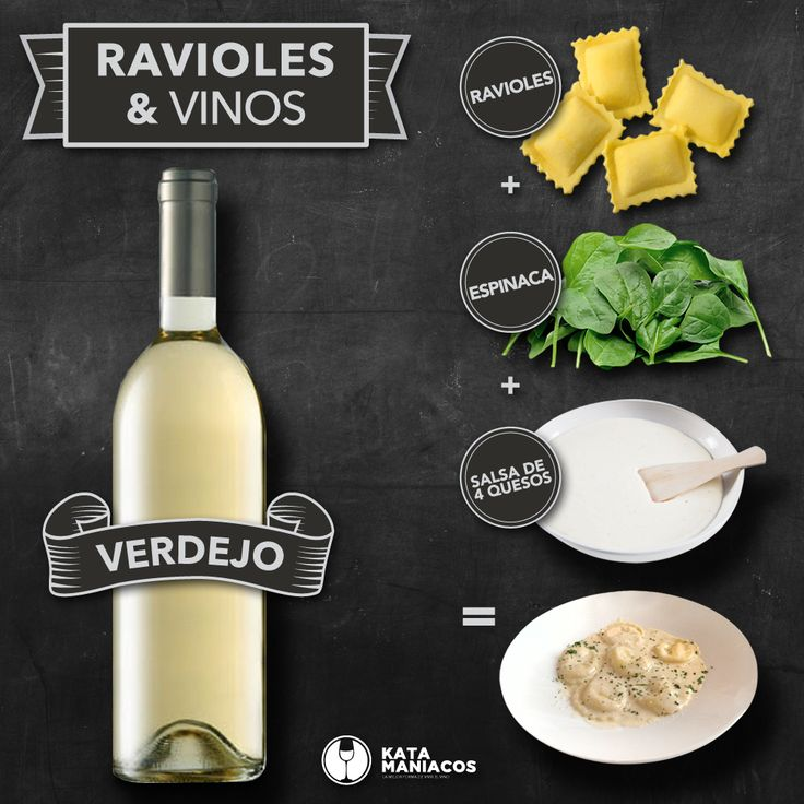 Un vino #Verdejo nos antoja con unos ravioles rellenos de espinaca con una salsa de 4 quesos. Ideal para una tarde de lluvia pero que hace algo de bochorno.