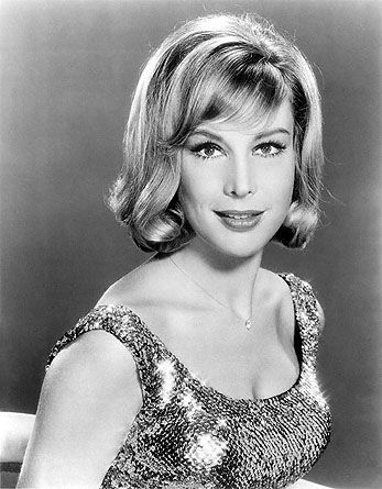 """Barbara Eden from """"I Dream of Jeannie"""". Shortly after shooting began on the pilot episode (1965), they found out she was pregnant. Director Gene Nelson invented a shot he playfully called the """"ATB"""" (""""Above the Baby"""")."""