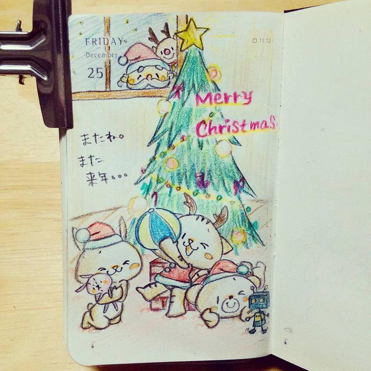 2015/12/25 またね。 また 来年。。。 #rakugaki365_2015 #rakugaki365_shiho #毎日らくがき部2015 #santaclaus #サンタクロース #トナカイ #reindeer #christmas #クリスマスプレゼント #クリスマス #rakugaki365 #moleskine #moleskinejp #illustration #drawing #モレスキン #イラスト #おえかき #お絵かき #らくがき #絵本 #diary
