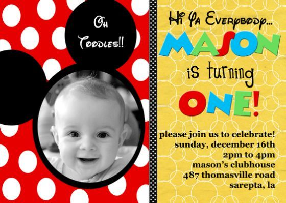 Mickey Mouse Baby First Birthday Kids In 2018 Birthday