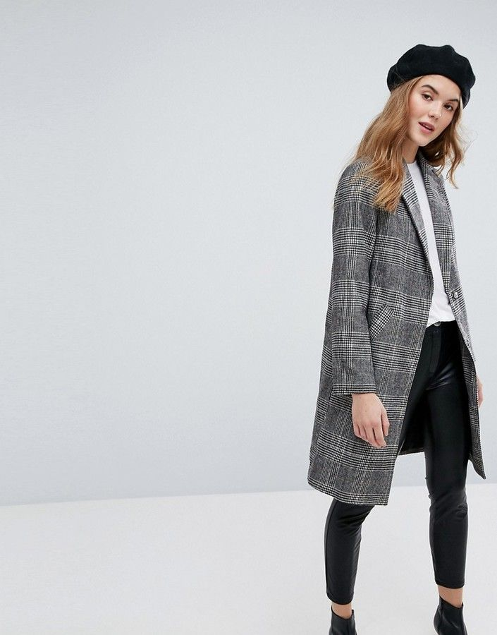New Look Checked Tailored Coat - need!