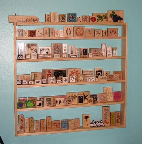Rubber Stamp Organizer - Make it for $10 in 15 minutes - Directions below by chaoticartworks, via Flickr