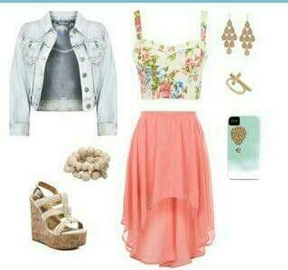 54b9deaf2a49 Cute . High low dress •cute •outfit •fashion for teens ~