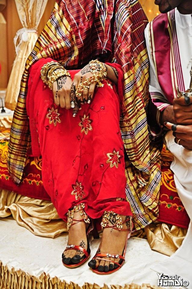 Sudani girl wedding dress