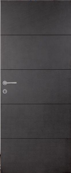 Porte intérieure contemporaine mdf noir vernis naturel mat