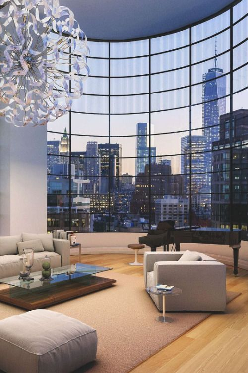Nyc New York City Apartment Penthouse Room With View Water Chelsea ...