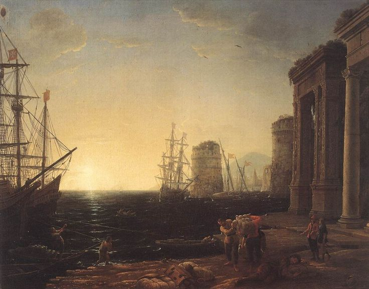 Claude Lorrain, Harbour Scene at Sunset, 1634 | © Royal Collection/WikiCommons