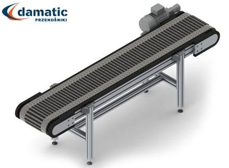 Przenośniki modularne są stosowane w środowisku gdzie wymagana jest podwyższona odporność na temperaturę, oraz wymaga się podwyższonej wytrzymałości mechanicznej.
