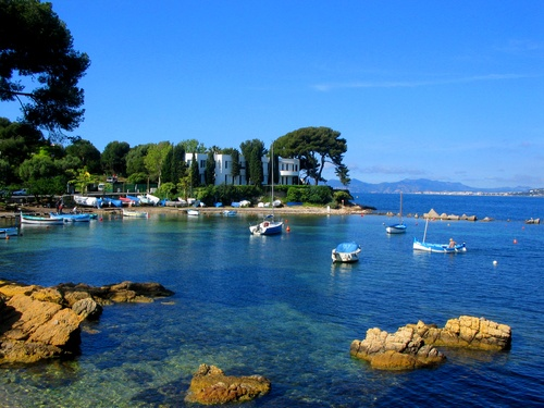 Cap d'Antibes - a beautiful place on the Mediterranean in the South of France.
