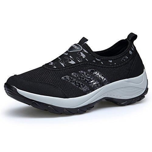 Oferta: 26.99€. Comprar Ofertas de DENGBOSN Mujer Zapatos Atléticos Zapatillas de Deporte Caminar Malla Respirable Casuales ,XZ003-black-EU39 barato. ¡Mira las ofertas!