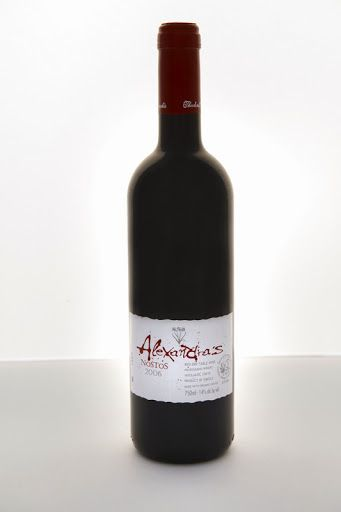 Manousakis Winery - Nostos Alexandra's 2010. Grape varietals: Grenache Rouge, Mourvedre and Syrah. The wine is certified organic. Our price, DKK 151.00