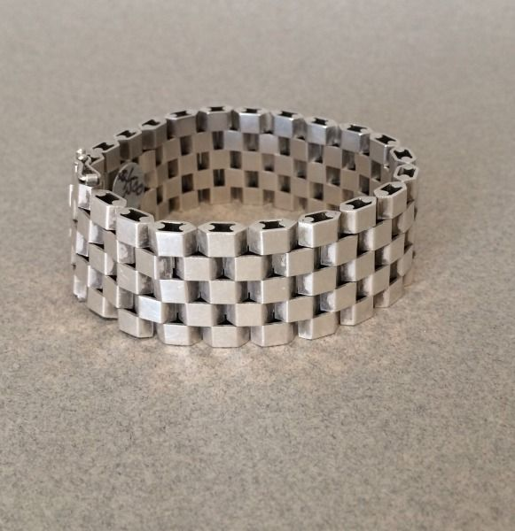 Georg Jensen Sterling Silver Bracelet by Ernst Forsmann No. 191, Handmade Sterling Silver - Gallery 925