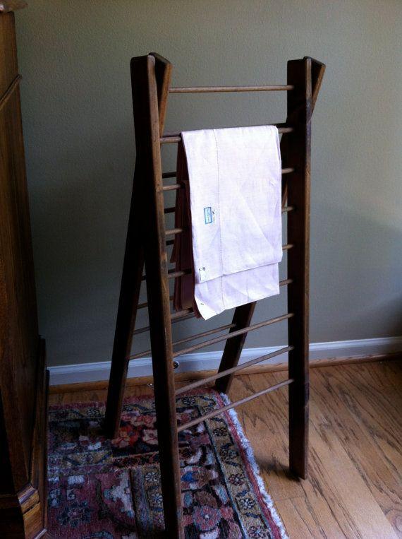 Antique Ladder Magazine Rack Towel Rack Display Towels