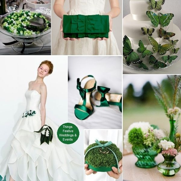 Things Festive Wedding Blog: Emerald Green Wedding Theme: Pantone's Color of the Year