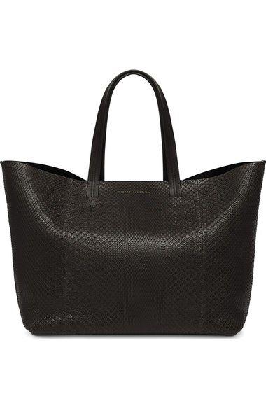 Main Image - Victoria Beckham Genuine Python New Simple Shopper Tote