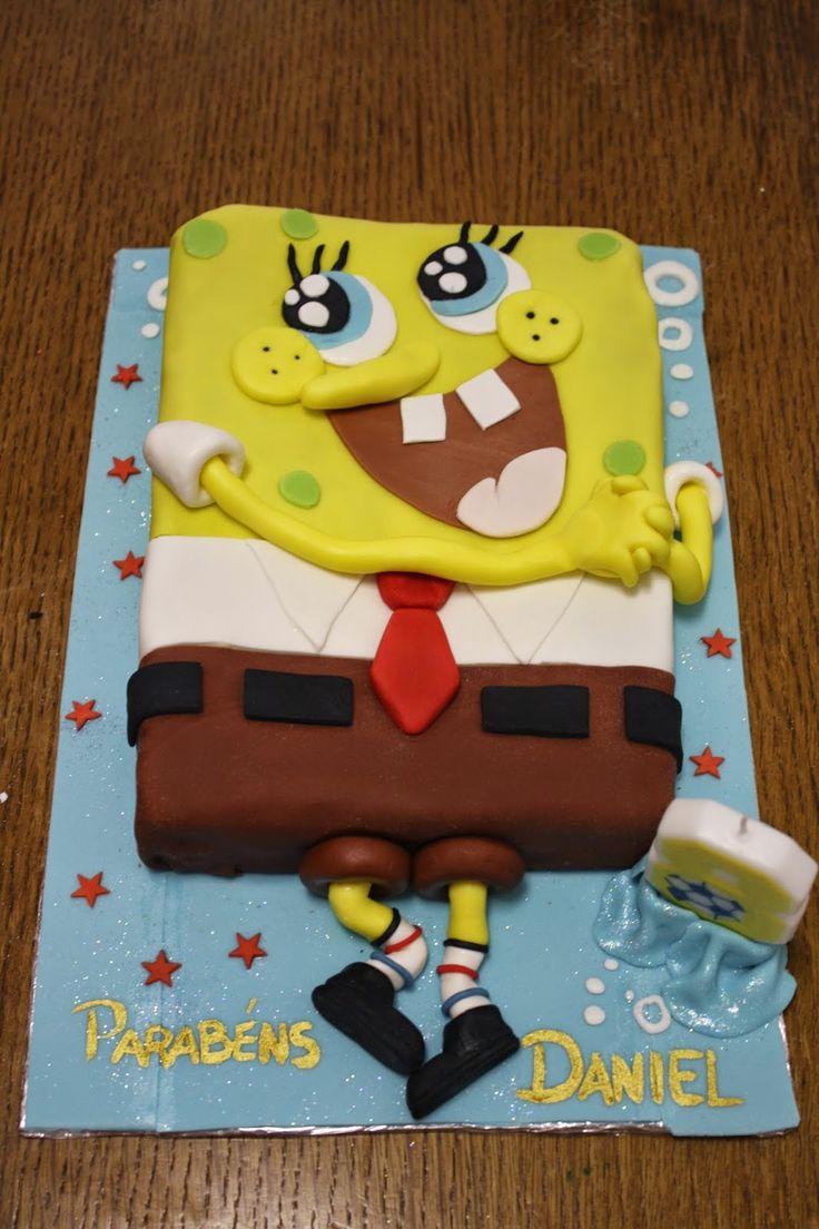 @w0928 Sponge Bob Cake - Cake done for my nephew :)