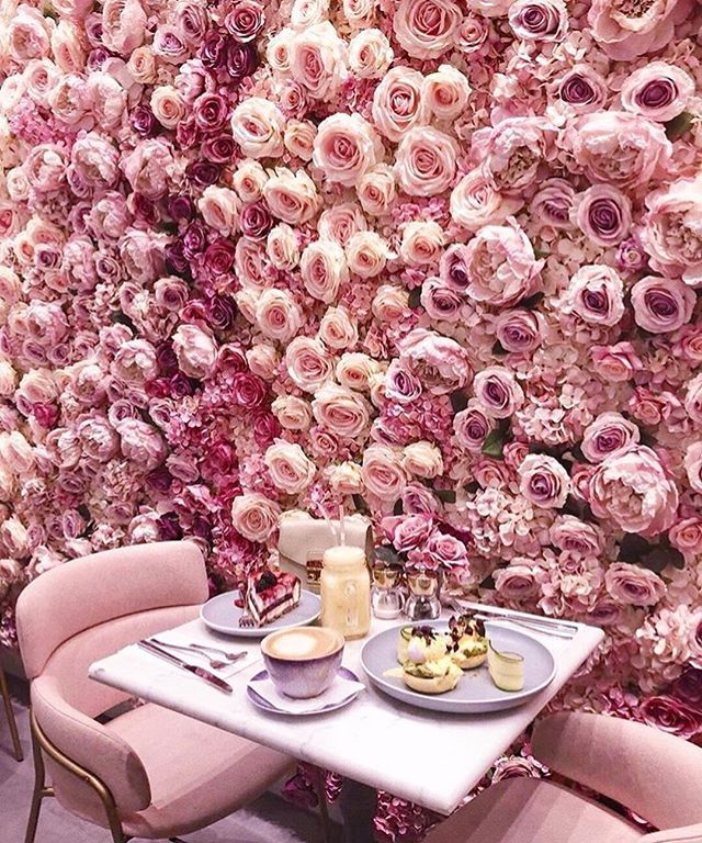 cb4491d8c Dont miss the chance to enjoy your meal in this wonderful floral  background.  elan cafe  elancafe  london  cafe  restaurant  food  foodie   gourmet ...