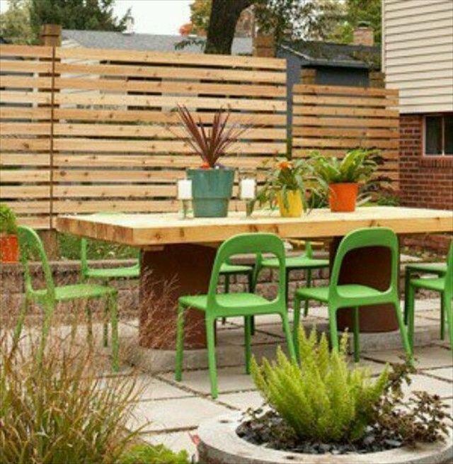 Les 56 meilleures images du tableau cloture cour sur for Separation jardin voisin