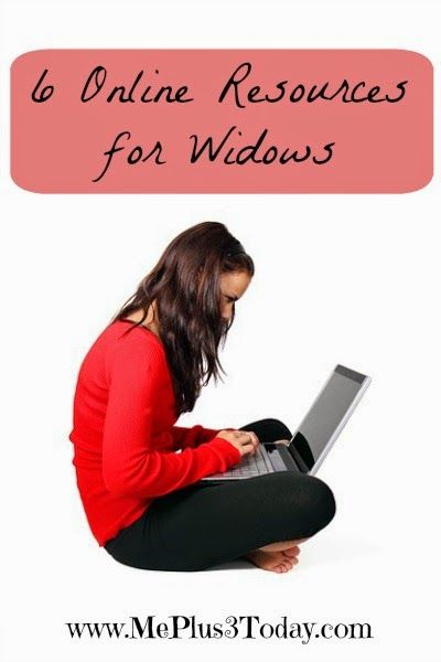 6 Online Resources for Widows, communities and foundations that can provide emotional and financial support to widows with children - Monday Mourning Widow Series - www.MePlus3Today.com