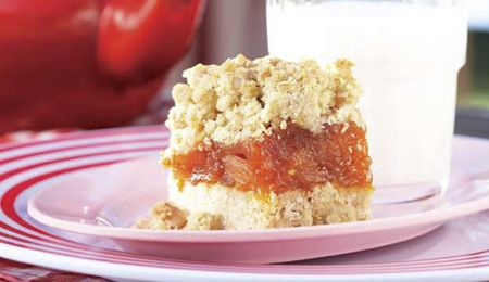 Apricot and oat squares