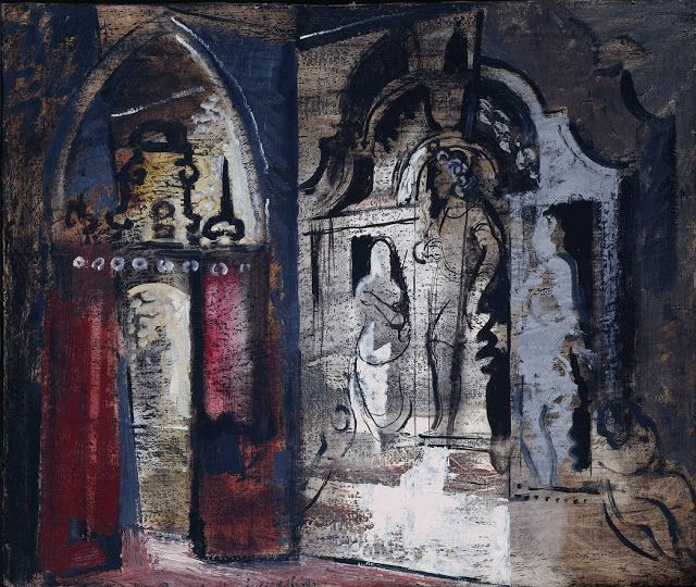 John Piper 1947-48 Yarnton Monument oil on canvas