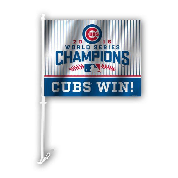 Chicago Cubs 2016 World Series Champions Car Flag  #ChicagoCubs #Cubs #FlyTheW #MLB